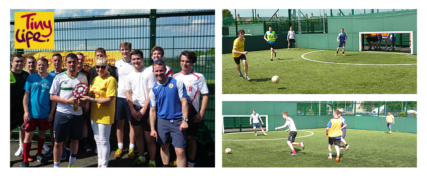 IPS host a charity 5-a-side football game to raise money for TinyLife.